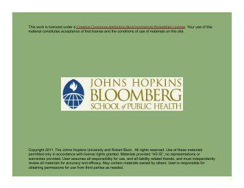 Copyright 2011, The Johns Hopkins University and Robert Blum. All ...