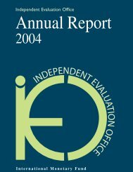 Annual Report 2004 - Independent Evaluation Office (IEO) of the IMF