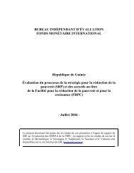 République de Guinée -- Évaluation du processus de la ... - IMF