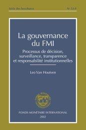 Série des brochures No 53-F - La gouvernance du FMI ... - IMF