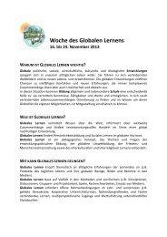 Global Education Week 2013