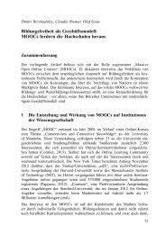 Bildungsfreiheit als Geschäftsmodell: MOOCs fordern die ...