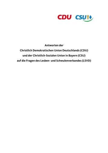 Antwort von CDU/CSU - LSVD