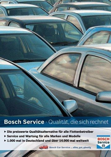 Bosch Service - Qualität, die sich rechnet - Bosch Car Service