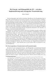 Die Energie- und Klimapolitik der EU – zwischen Implementierung ...