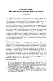 Der Weg nach Rom - Institut für Europäische Politik [IEP]