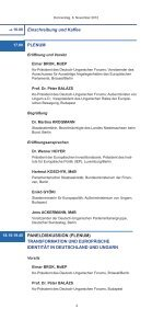 Jahrestagung des Deutsch-Ungarischen Forums A Magyar-Német ... - Seite 4