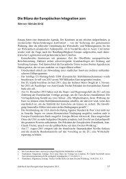 Die Bilanz der Europäischen Integration 2011