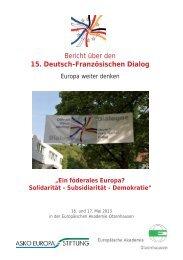 Bericht zum DFD 2013 - Institut für Europäische Politik [IEP]