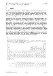 Vorlesung FP Kap.7 Version 1.0 - Institut für Energieforschung und ...