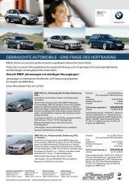GEBRAUChTE AUTOMOBILE – EINE FRAGE DES ... - BMW