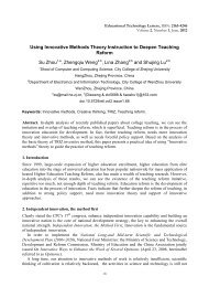 Using Innovative Methods Theory Instruction to Deepen Teaching ...