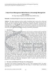 A Sport Event Management Model Based on Knowledge ...