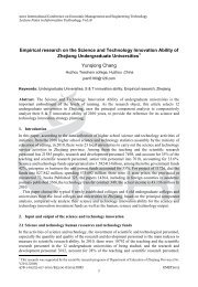 Empirical research on the Science and Technology Innovation ... - IERI