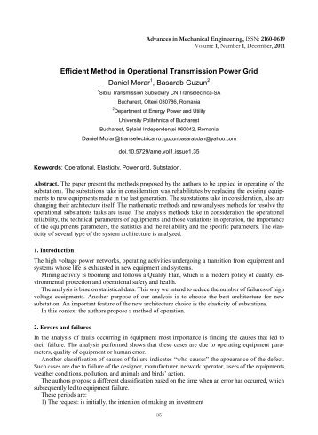 Efficient Method in Operational Transmission Power Grid Daniel ...