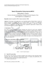 Speech Recognition Using improved MFCC Zhang Wanli, Li Guoxin