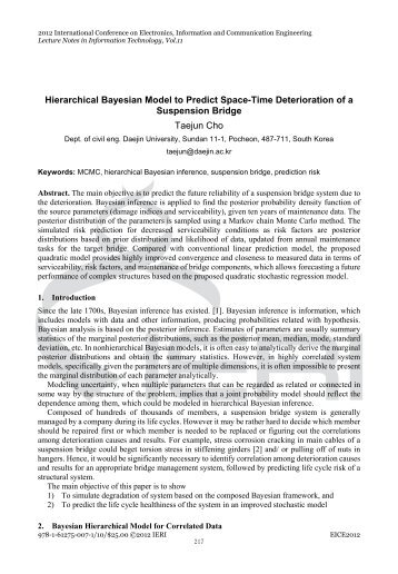 Hierarchical Bayesian Model to Predict Space-Time Deterioration of ...