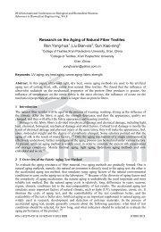 Research on the Aging of Natural Fiber Textiles Ren Yong-hua1 ,Liu ...