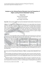 Analysis on the Lifelong Physical Education from the ... - IERI