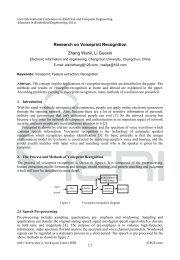 Research on Voiceprint Recognition Zhang Wanli, Li Guoxin - IERI