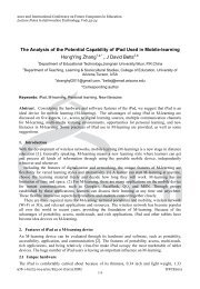The Analysis of the Potential Capability of iPad - Information ...