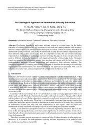 An Ontological Approach to Information Security Education H. Hu ...