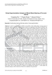 Virtual Experimentation Analysis of Whole Wheel Steering of Five ...