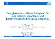 """Energiewende – """"Grüne Energien"""" - Institut für Energiewirtschaft und ..."""