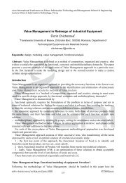 Value Management in Redesign of Industrial Equipment Florin ...