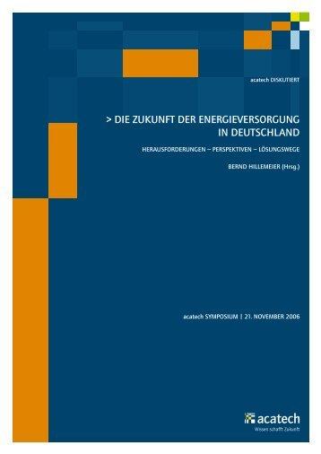 DIE zUKUnfT DER EnERgIEvERSoRgUng In DEUTSchlanD