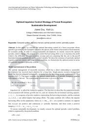 Optimal Impulsive Control Strategy of Forest Ecosystem ... - IERI