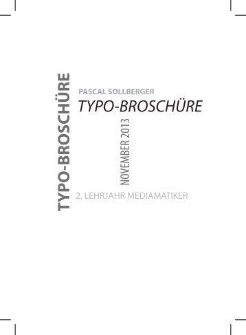 Typobroschüre