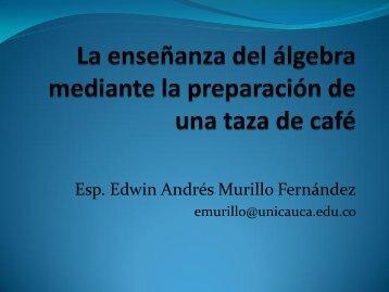 La enseñanza del álgebra mediante la preparación de una ... - ieRed