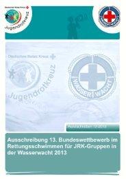 Ausschreibung 13. Buwett im Rettungsschwimmen für ... - mein-jrk.de
