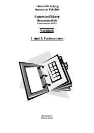 Semesterführer Humanmedizin Vorklinik WS 2013-14