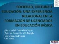 sociedad, cultura y educación: una experiencia relacional ... - ieRed