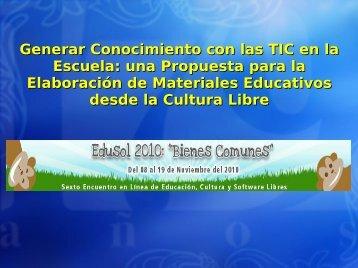 Generar Conocimiento con las TIC en la Escuela: una ... - ieRed