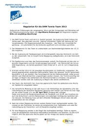 Regularien für die DHM Tennis-Team 2012 - Allgemeiner Deutscher ...