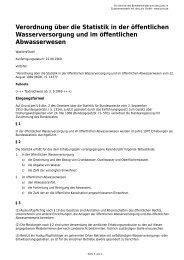 Verordnung über die Statistik in der öffentlichen Wasserversorgung ...