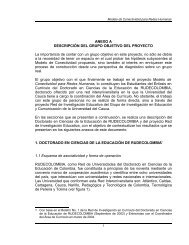 Documento Final. Anexo A: Descripción del Grupo Objetivo ... - ieRed