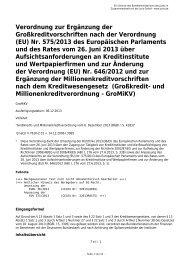 (EU) Nr. 575/2013 des Europäischen Parlaments und des