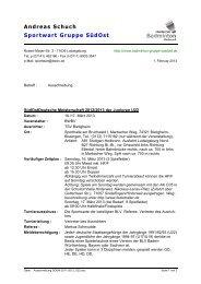 Ausschreibung - Baden - Württembergischer Badminton - Verband