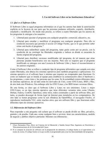 3. Uso del Software Libre en las Instituciones Educativas ... - ieRed