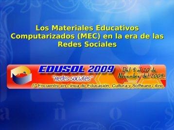 Los MEC desde las Redes Sociales - ieRed