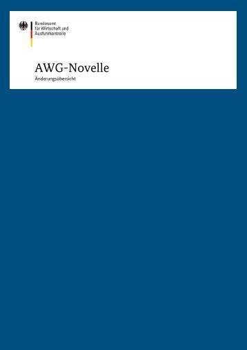 Merkblatt zur AWG-Novelle - Ausfuhrkontrolle