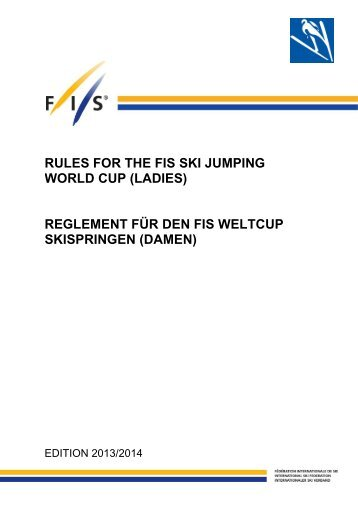 RULES FOR THE FIS SKI JUMPING WORLD CUP (LADIES ...