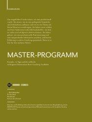 MasTeR-PRoGRaMM - Dr. Bock Coaching Akademie