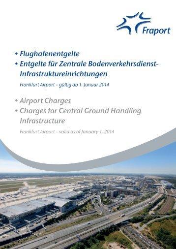 Entgeltordnung - Flughafen Frankfurt