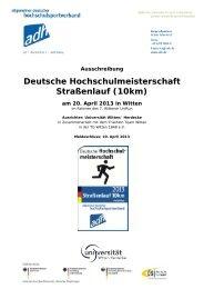 Deutsche Hochschulmeisterschaft Straßenlauf (10km) - Allgemeiner ...