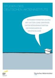 Eine Umfrage unter börsennotierten Unternehmen in Deutschland